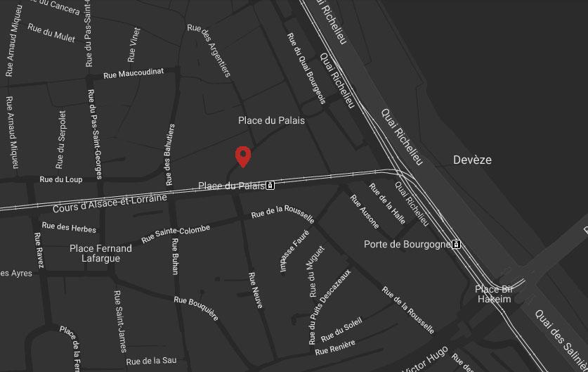carte place du palais